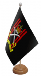Army Physical Training Corps Desk / Table Flag with wooden stand and base